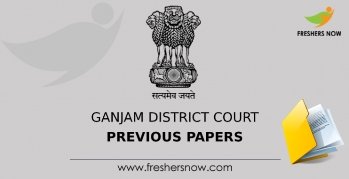 Ganjam District Court Previous Papers