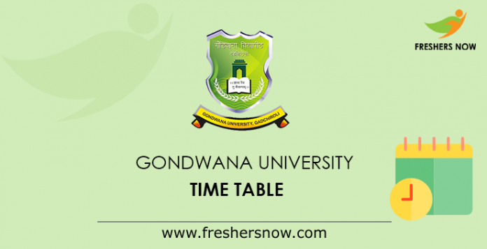 Gondwana University Time Table