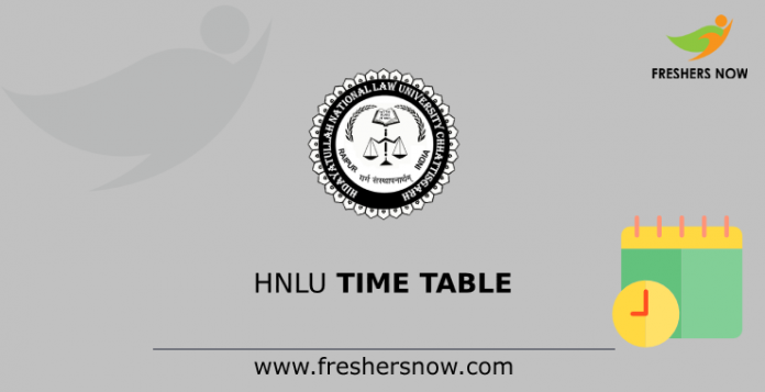 HNLU Time Table