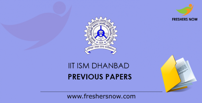 IIT ISM Dhanbad Previous Papers