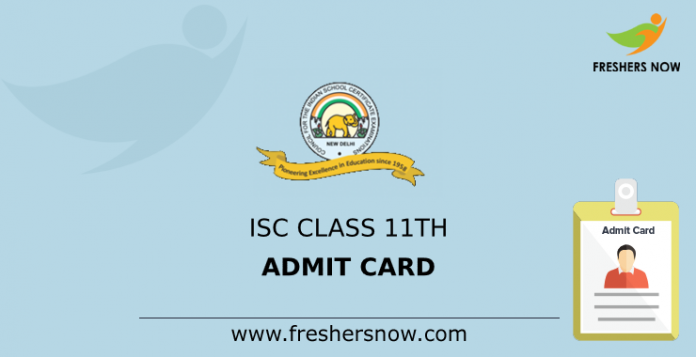 ISC Class 11th Admit Card