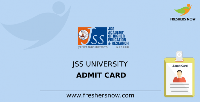 JSS University Admit Card