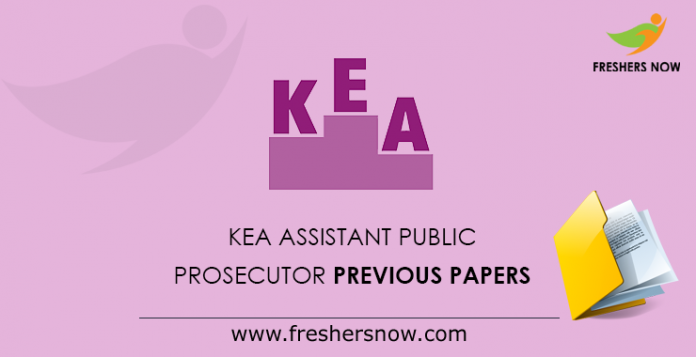 KEA Assistant Public Prosecutor Previous Papers