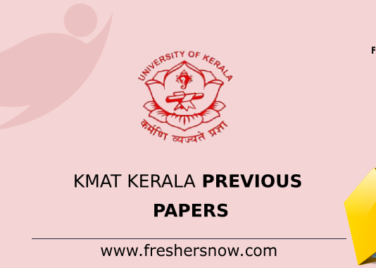 KMAT Kerala Previous Question Papers