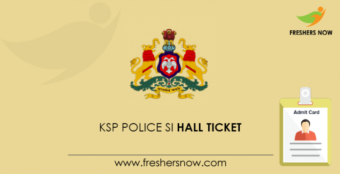 KSP Police SI Hall Ticket