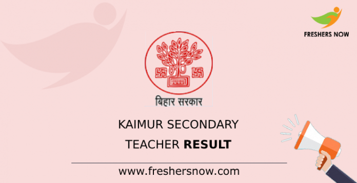 Kaimur Secondary Teacher Result