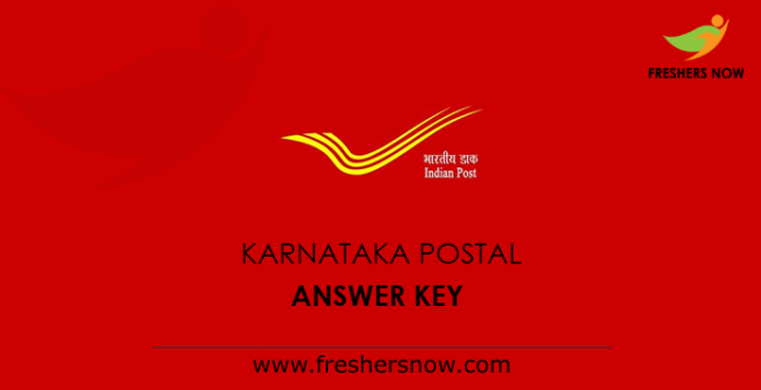 Karnataka Postal Answer Key