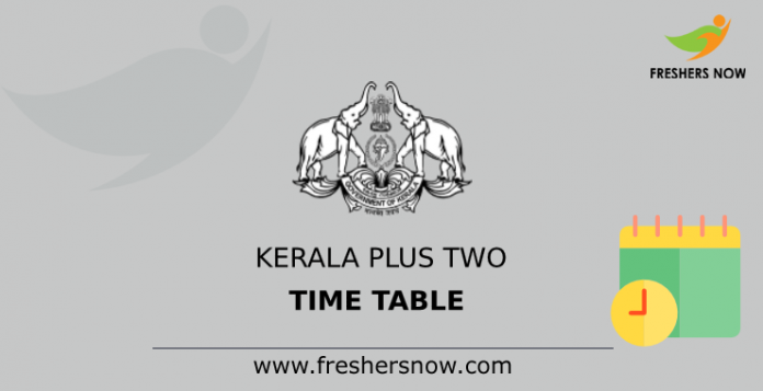 Kerala Plus TwoTime Table