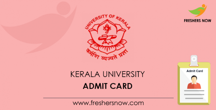 Kerala University Admission Card