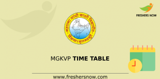 MGKVP Time Table