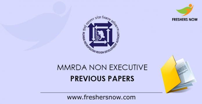 MMRDA Non Executive Previous Papers