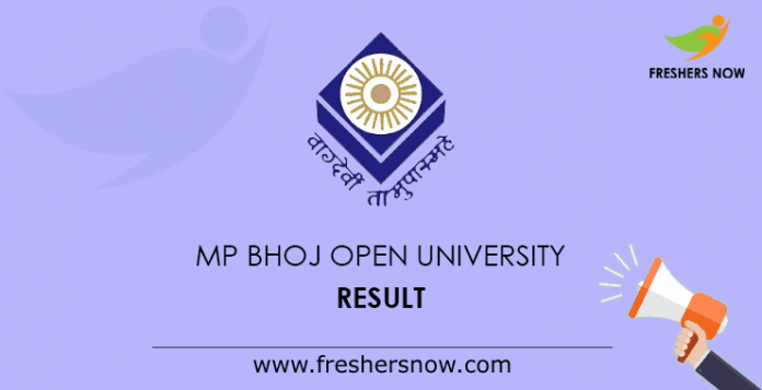 Result of MP Bhoj Open University