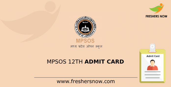 MPSOS 12th Admit Card