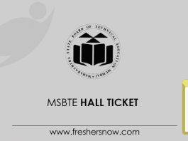 MSBTE Hall Ticket