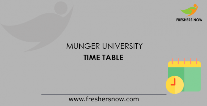 Munger University Time Table