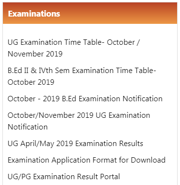 Mysore University Exam Time Table