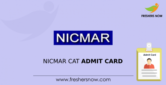 NICMAR CAT Admit Card