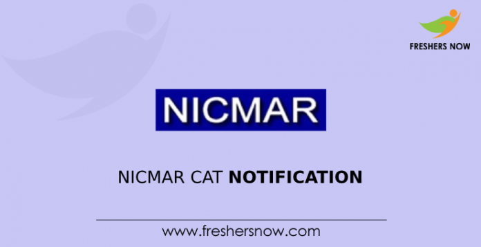 NICMAR CAT Notification