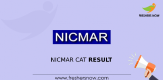 NICMAR CAT Result