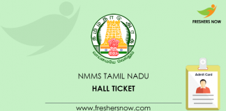 TN NMMS Hall Ticket