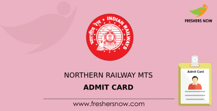 Northern Railway MTS Admit Card