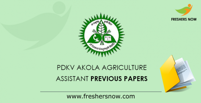 PDKV Akola Agriculture Assistant Previous Papers
