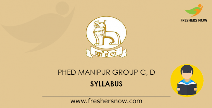 PHED Manipur Group C, D Syllabus