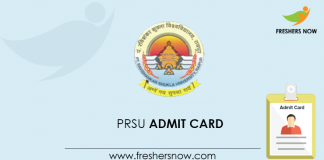 PRSU Admit Card