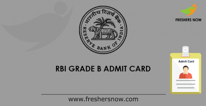 RBI Grade B admission card