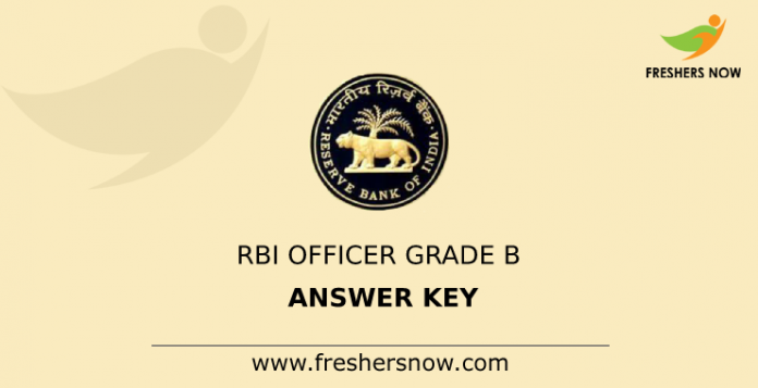 RBI Officer Grade B Answer Key