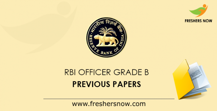 RBI Officer Grade B Previous Papers