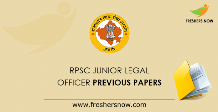 RPSC Junior Legal Officer Previous Papers