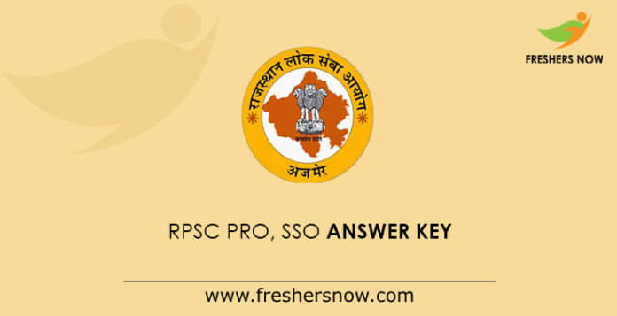 RPSC PRO, SSO Answer Key
