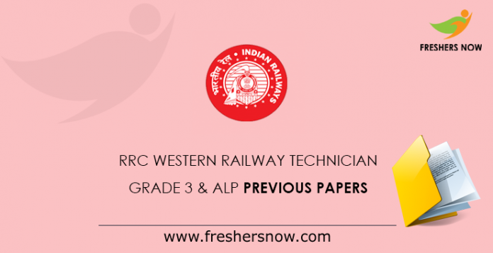 RRC Western Railway Technician Grade 3 & ALP Previous Papers