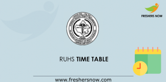 RUHS Time Table