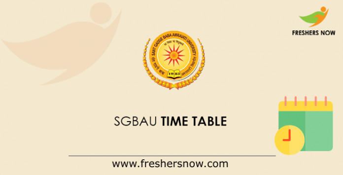 SGBAU Time Table