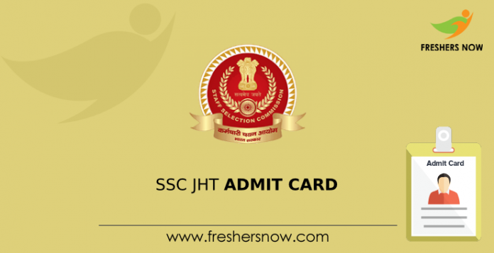 SSC JHT admission card