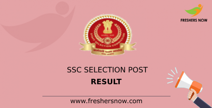 SSC Selection Post Result