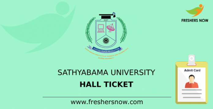 Sathyabama University Hall Ticket