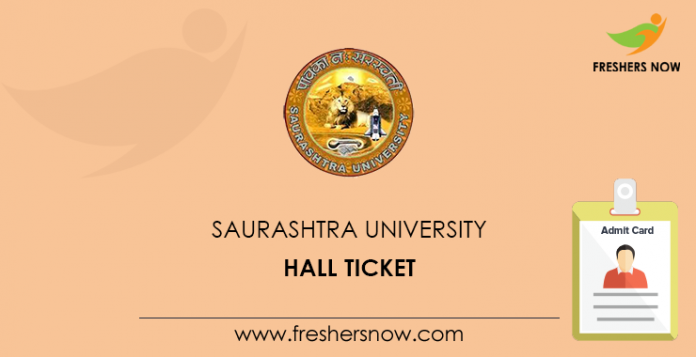 Saurashtra University Hall Ticket