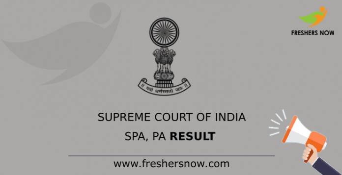 Supreme Court of India SPA, PA Result