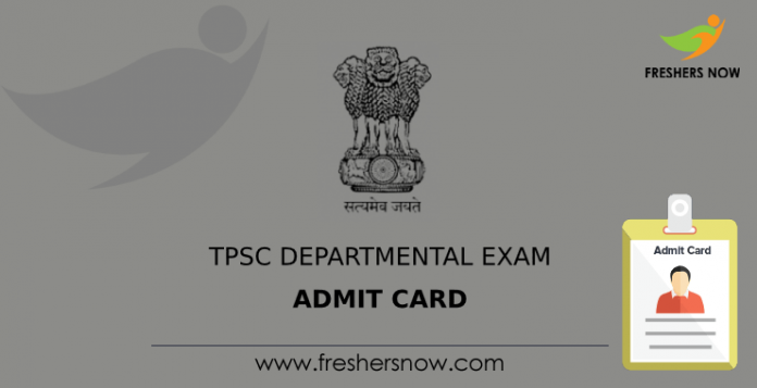 TPSC Departmental Exam Admit Card