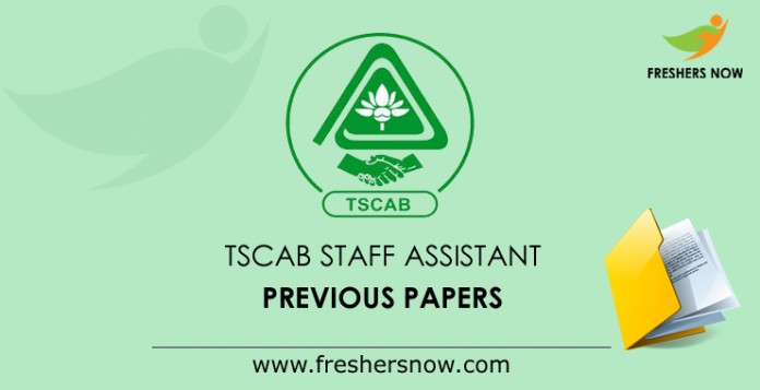 TSCAB Staff Assistant Previous Papers