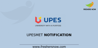 UPESMET Notification
