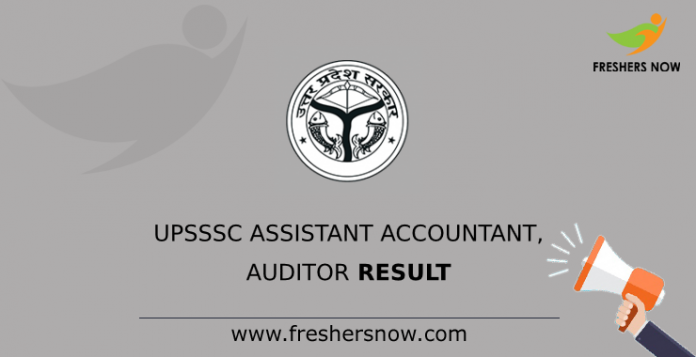 UPSSSC Assistant Accountant, Auditor Result