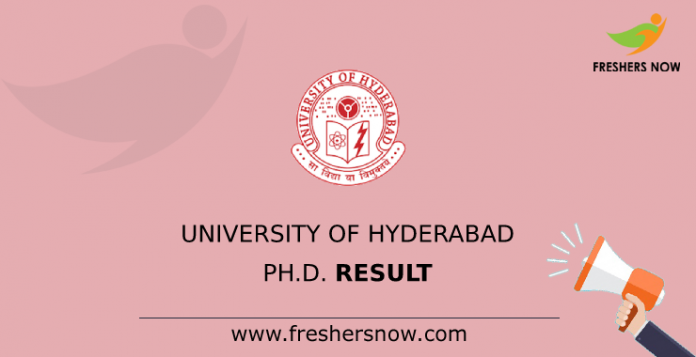University of Hyderabad Ph.D. Result