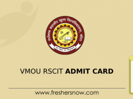 VMOU RSCIT Admit Card