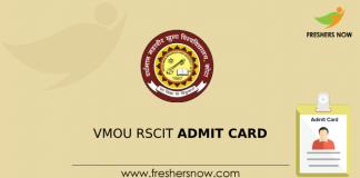 VMOU RSCIT Admit Card