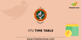 VTU Time Table