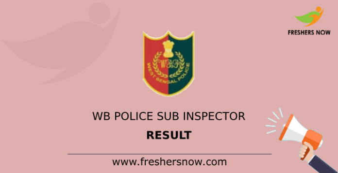 WB Police Sub Inspector Result